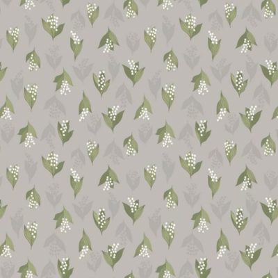 Lily of the Valley on Dove Grey