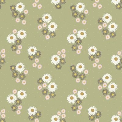 Daisies On Sage Green