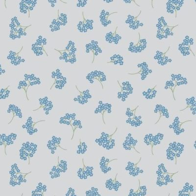 Forget Me Nots on Light Grey