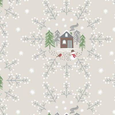 Cream Snowflake Scene