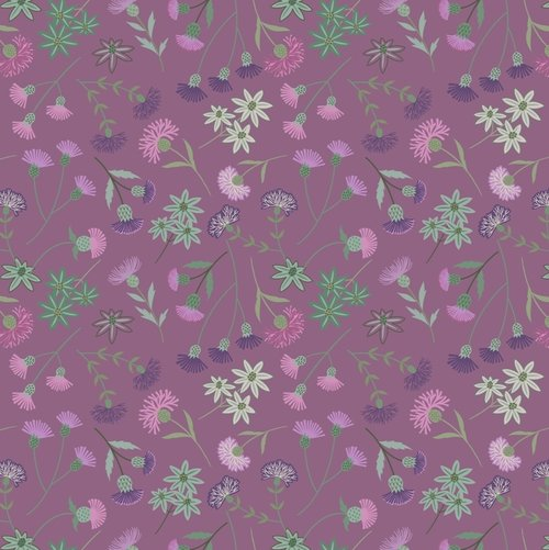 Thistle Floral Purple
