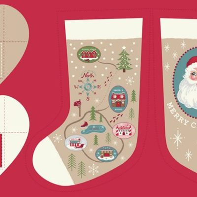 Parchment North Pole Stockings