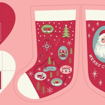 Red North Pole Stockings