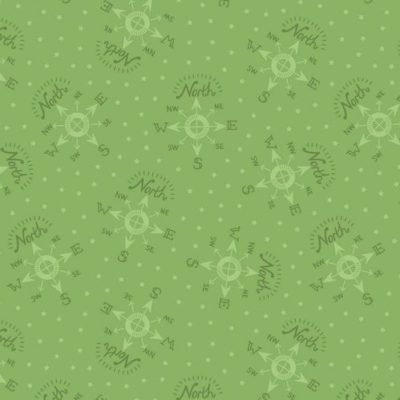 North Pole Compass Elf Green