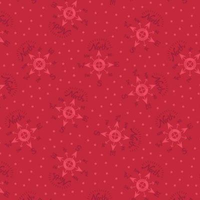North Pole Compass Festive Red