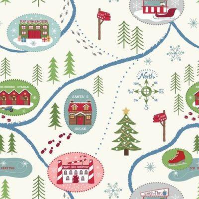 Santa Map Snow
