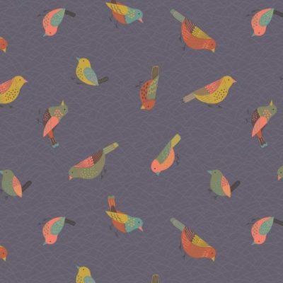 Hedgerow Birds Warm Grey