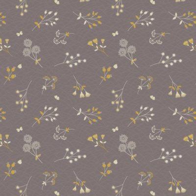 Hedgerow Flowers Warm Grey