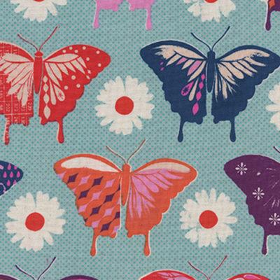 Butterflies Aqua