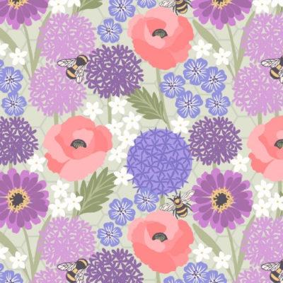 Allium Poppies Light Sage