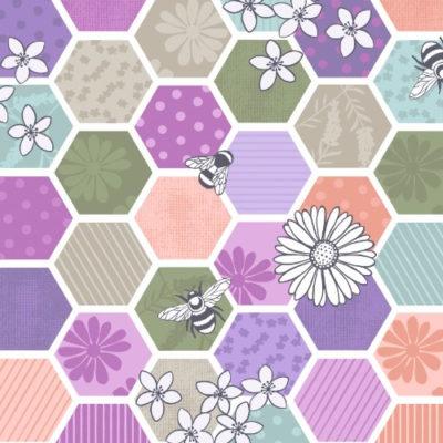 Bee Hexagons Green