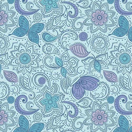 Floral Flow Blissful Blue