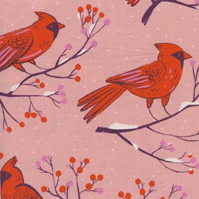 Winter Cardinals Pink