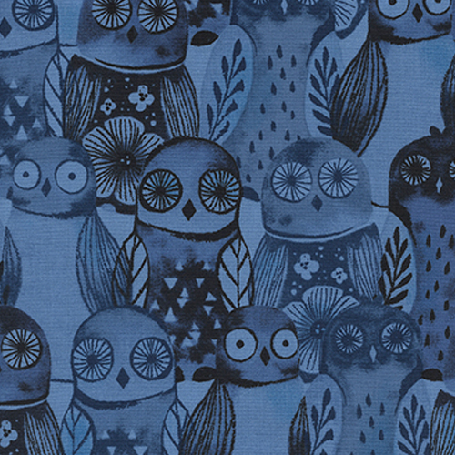 Wise Owls Blue