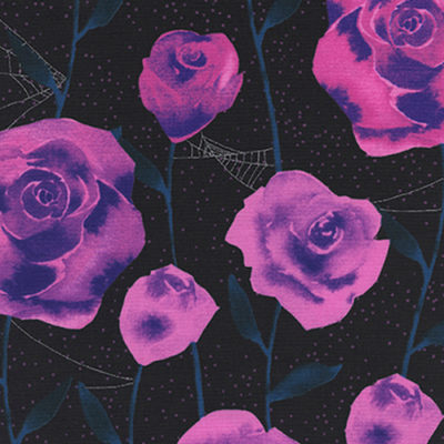 Roses Black Metallic
