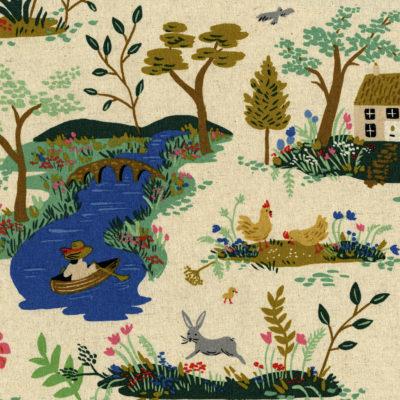 Garden Toile Cream Canvas