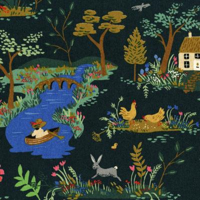 Garden Toile Dark Canvas