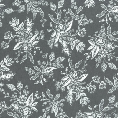 Floral Toile Grey