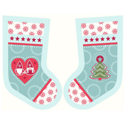 Hygge Christmas Stockings Icy Blue