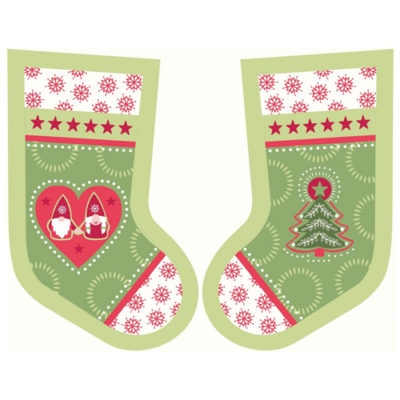 Hygge Christmas Stockings Green