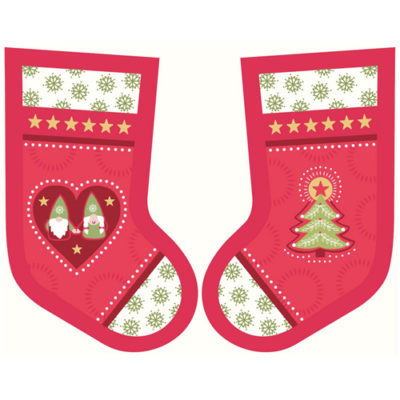 Hygge Christmas Stockings Red