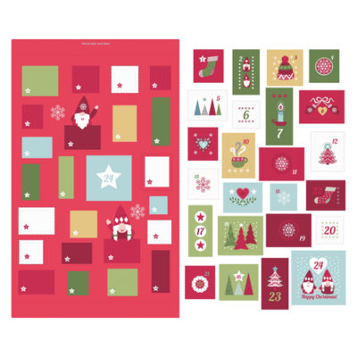 Hygge Christmas Advent Calendar Red