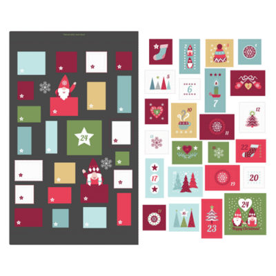 Hygge Christmas Advent Calendar Slate