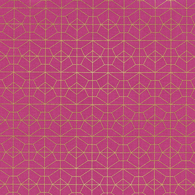 Geo Grid Fuchsia Metallic